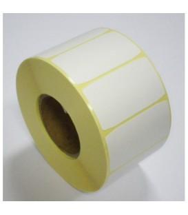 Rollo Etiquetas En Continuo Mate Sin Adhesivo 30 mm 40 M.