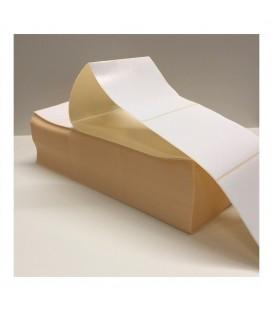 Paquete 5,4 Millares de Etiquetas Semibrillo-couché 100 x 100 mm Plegadas Zig-Zag
