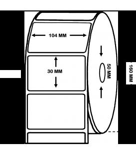 Rollo de 3,5 Millares de Etiquetas Alto Brillo 104 x 30 mm
