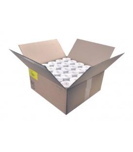 Caja 16,5 Millares Etiquetas Blanco Mate 100 x 100 Fondo Amarillo