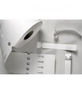 Etiquetas de lazo . Blancas. 16,67 * 254 mm. Salida de 6 SIN CUPÓN. Rollo de 2500 etiq.