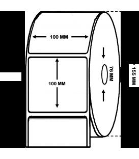 Rollo de 1 millar de etiquetas . Papel térmico 100 x 100 mm