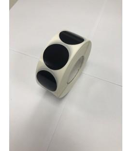 Caja 1 Millar Etiquetas Polietileno negro Automoción 30 x 30