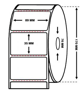 Rollo 3 Millar Etiquetas Papel Térmico 89 x 35 Trepadas