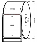 Rollo 1,3 Millares Etiquetas Papel Térmico 105 x 148 mm