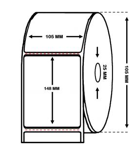 Rollo de 0.400 millares etiquetas papel térmico 105 x 148 mm