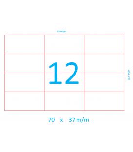 ETIQUETAS ADHESIVAS 70 X 37 mm EN HOJA DIN A5 - COPYLAR