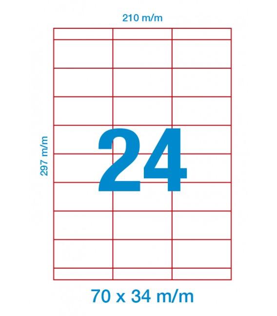 Etiquetas Adhesivas DIN A4 - margen superior e inferior