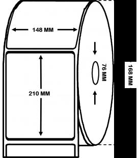 Rollo 0,5 Millares Etiquetas Polietileno Blanco Mate 148 x 210 mm