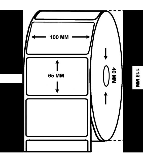 CAJA DE 12 MILLARES ETIQUETAS PAPEL TÉRMICO 100 x 65 mm