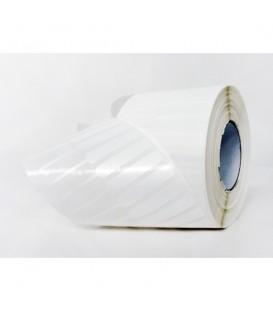 ROLLO DE 4 MILLARES DE ETIQUETAS POLIPROPILENO BLANCO BRILLO 65 x 8 mm