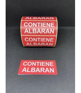 "Rollo 1.000 Etiquetas adhesivas ""CONTIENE ALBARAN"" 120 x 50 mm"