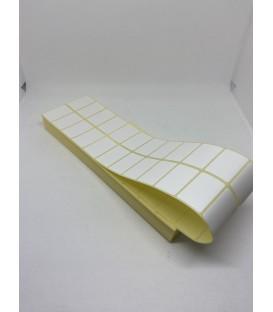 Paquete 40 Millares Etiquetas Poliamida 3000 Adhesiva 40 x 25