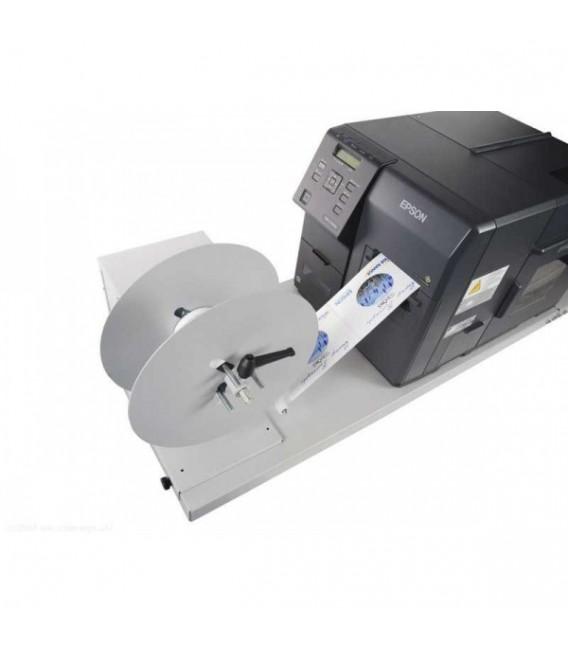 Conjunto de: Rebobinador + placa de sujeción para la impresora Epson C-7500 y C-7500G