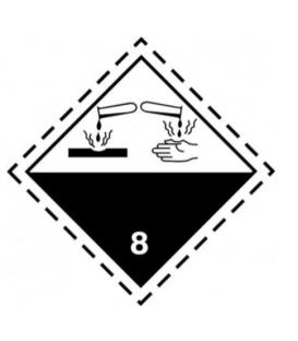"Etiquetas A.D.R. Clase 8 ""Materias corrosivas"""