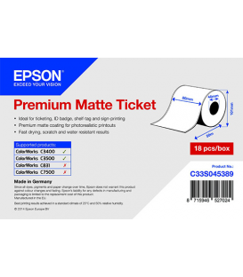 Rollo de Premium Matte Ticket, 80 mm x 50m