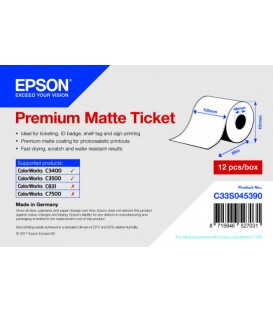Rollo de Premium Matte Ticket, 102 mm x 50m