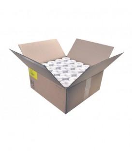 Caja 54 Millares Etiquetas Poliester Plata Mate Para Iluminación 48 x 17 mm Plegadas Zig-Zag