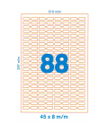 Etiquetas JOYERIA Adhesivas DIN A4 - margen superior e inferior