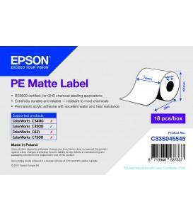 Rollo Etiquetas Continuo Mate PE Inkjet 76 mm x 29 M (29M.)