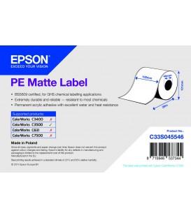 Rollo Etiquetas Continuo Mate PE Inkjet 102 mm x 29 M (29M.)